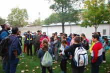 Llegada a Pamplona y reparto de grupos