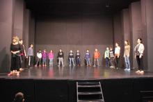 Participación de nuestros alumnos en una clase de la Escuela Nacional de Teatro